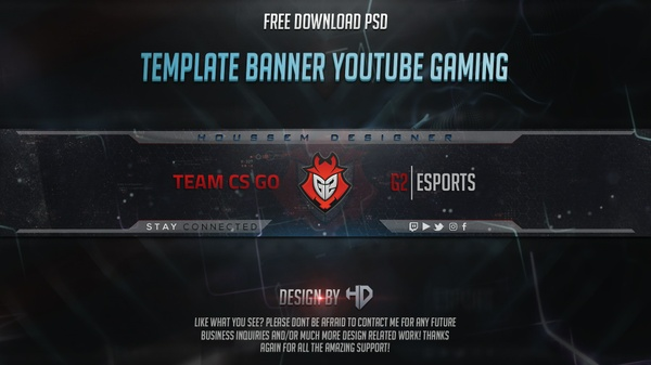Template Banner Youtube Gaming G2 Esports