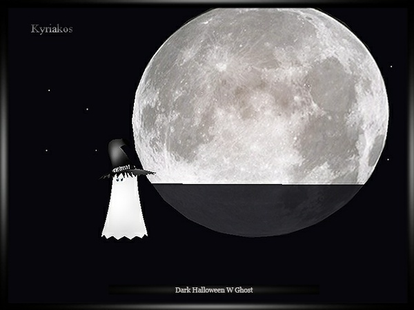 Dark Halloween W Ghost Room