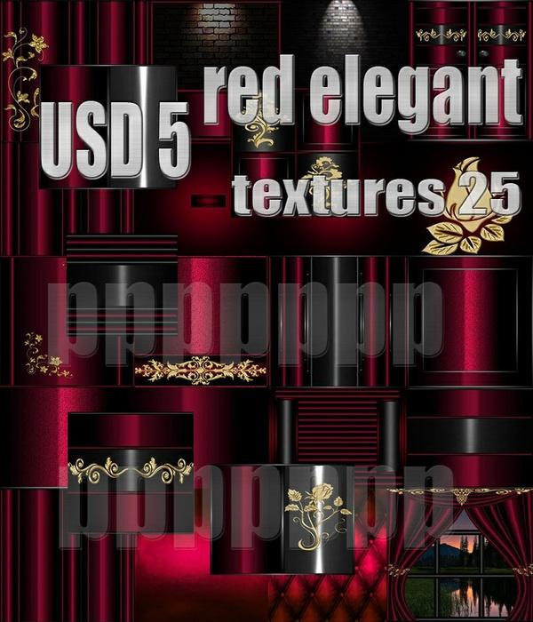 RED ELEGANT 25 TEXTURES 5 USD