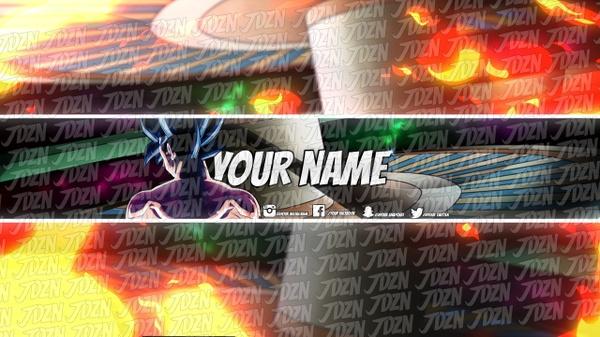 EPIC Goku YouTube Banner Template