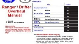 Ford Ranger / Mazda Drifter Engine & Transmission Overhaul Manual