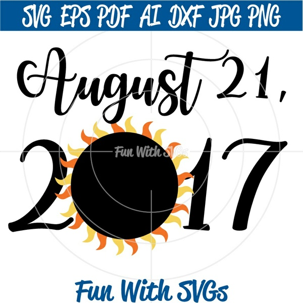 August 21, 2017, Total Eclipse, Eclipse SVG, Total solar eclipse, Solar Eclipse 2017, Solar Eclipse