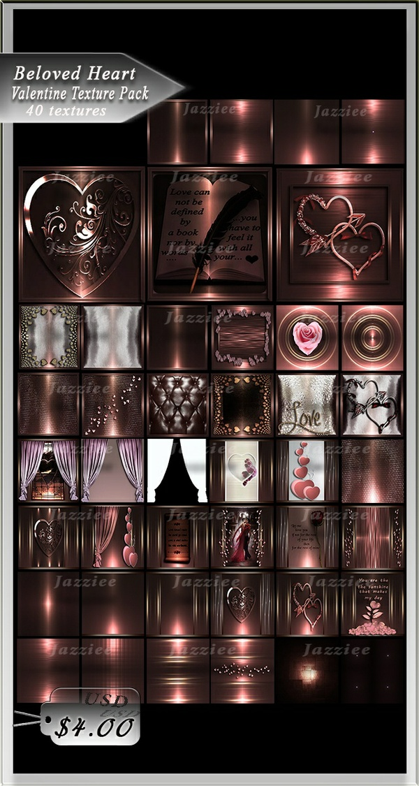 Beloved Heart 40 Textures
