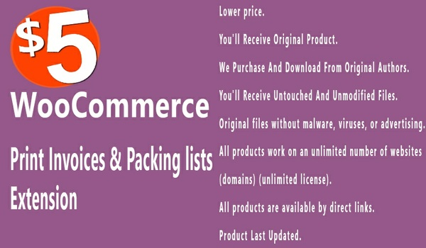 WooCommerce Print Invoices and Packing Lists 3.4.0 Extension