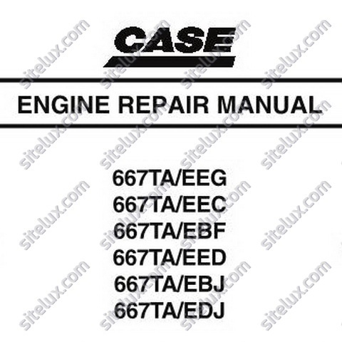 Case 667TA Engine Repair Manual