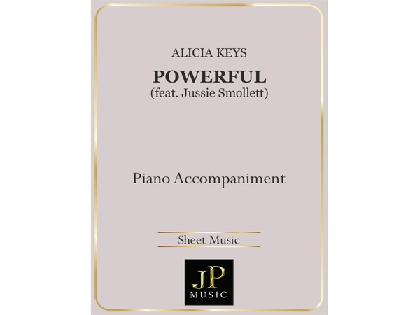 Powerful - Piano Accompaniment