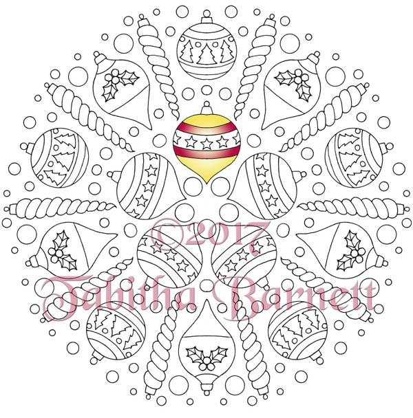 Christmas Mandalas Coloring Pack #1 (5 Christmas themed mandalas)