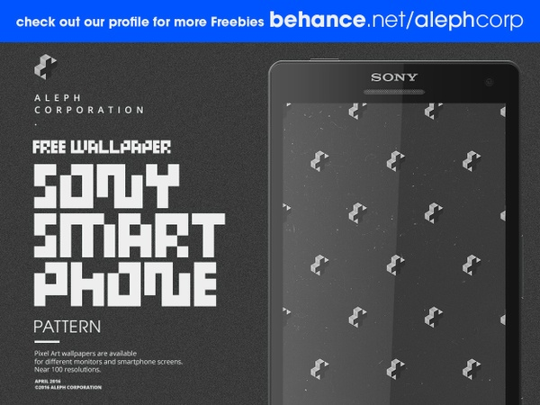 Free Sony Smartphone Wallpapers - Pixel Art by aleph corporation
