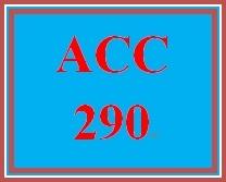 ACC 290 Week 3 participation Financial Statement Worksheet