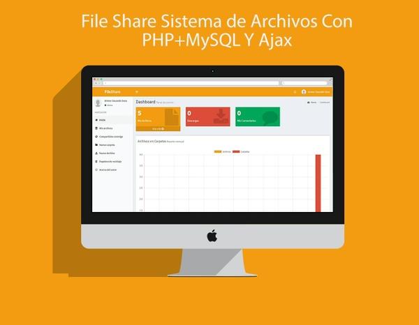 File Share Sistema de Archivos Con PHP+MySQL Y Ajax