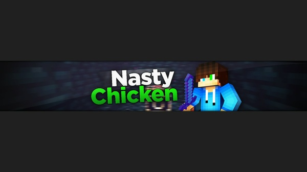 Custom Minecraft YT banner