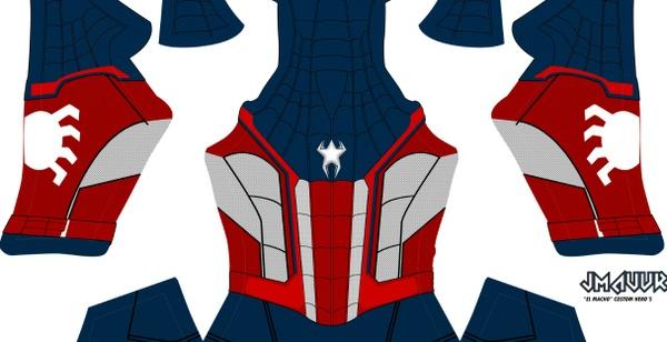 Captain Spider-man Homecoming V2 (no shading)
