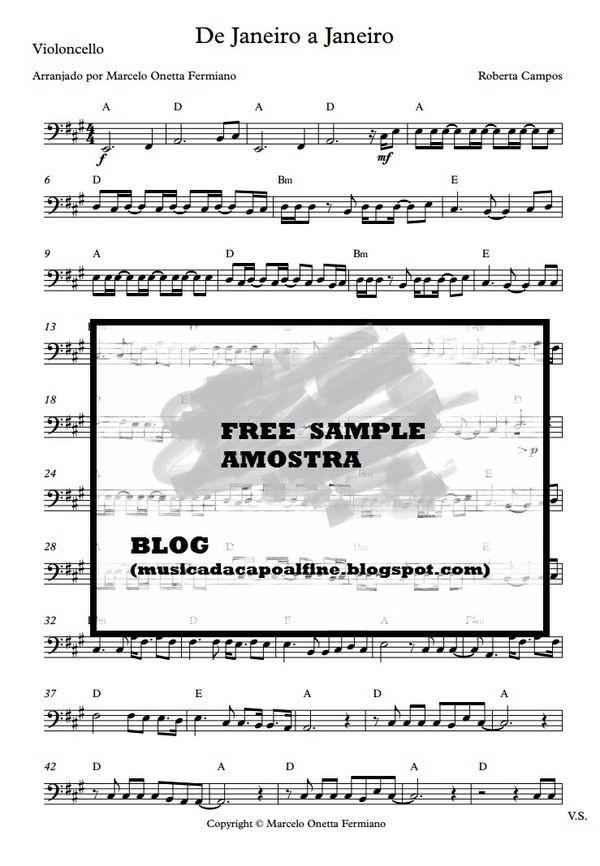 De Janeiro a Janeiro - R. Campos (violoncelo arrangement of Brasilian Song)