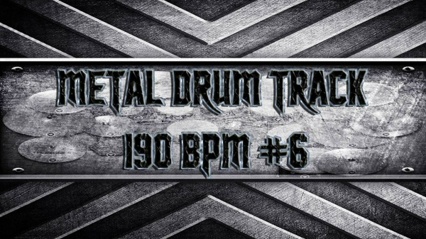 Metal Drum Track 190 BPM #6