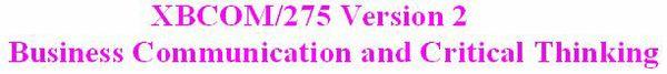 XBCOM 275 Week 9 Capstone DQ