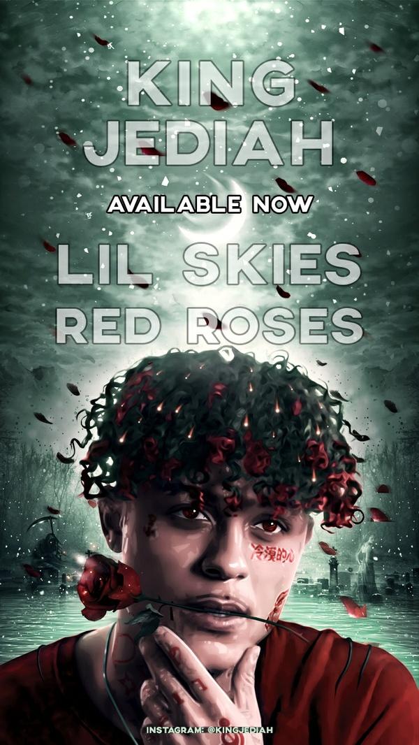 "Lil Skies ""Red Roses"" Phone Wallpaper"