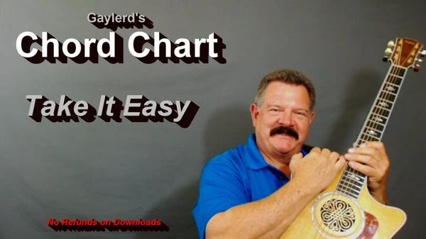 Take It Easy by The Eagles  - CHORD CHART
