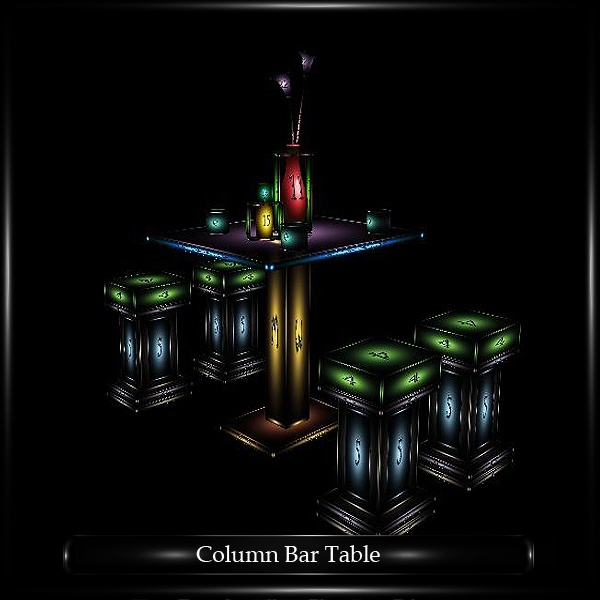 COLUMN BAR TABLE