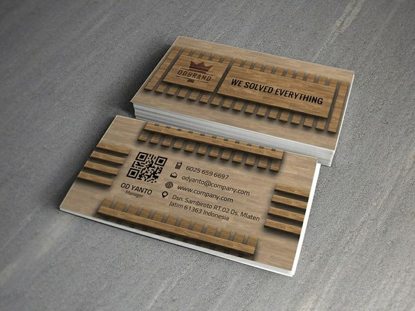 Business Card Wood Style Vol#04