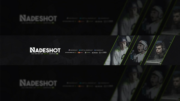OpTic Nadeshot YouTube Banner PSD