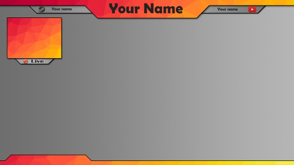 Orange Twitch Overlay | Overlay #2