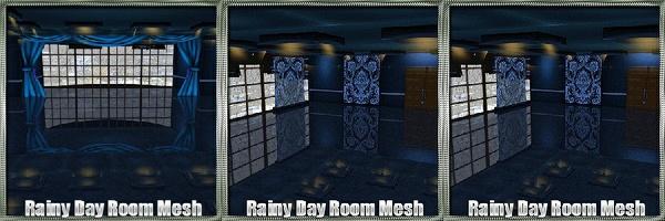 Rainy Day Room Mesh w/Textures
