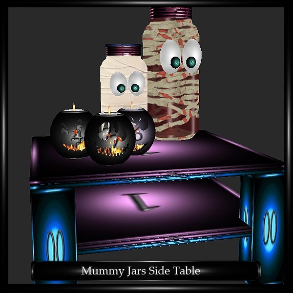 MUMMY JARS SIDE TABLE