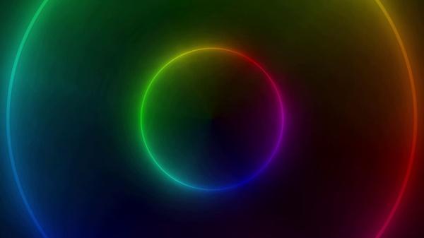 Animated Rainbow Ring Desktop Wallpaper