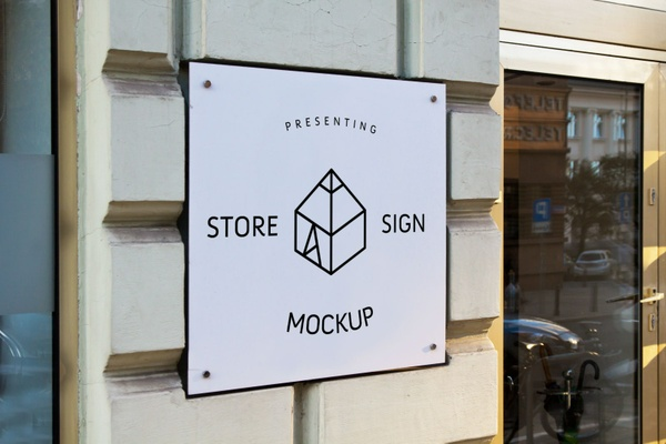 Free Store Sign Mock-up 2