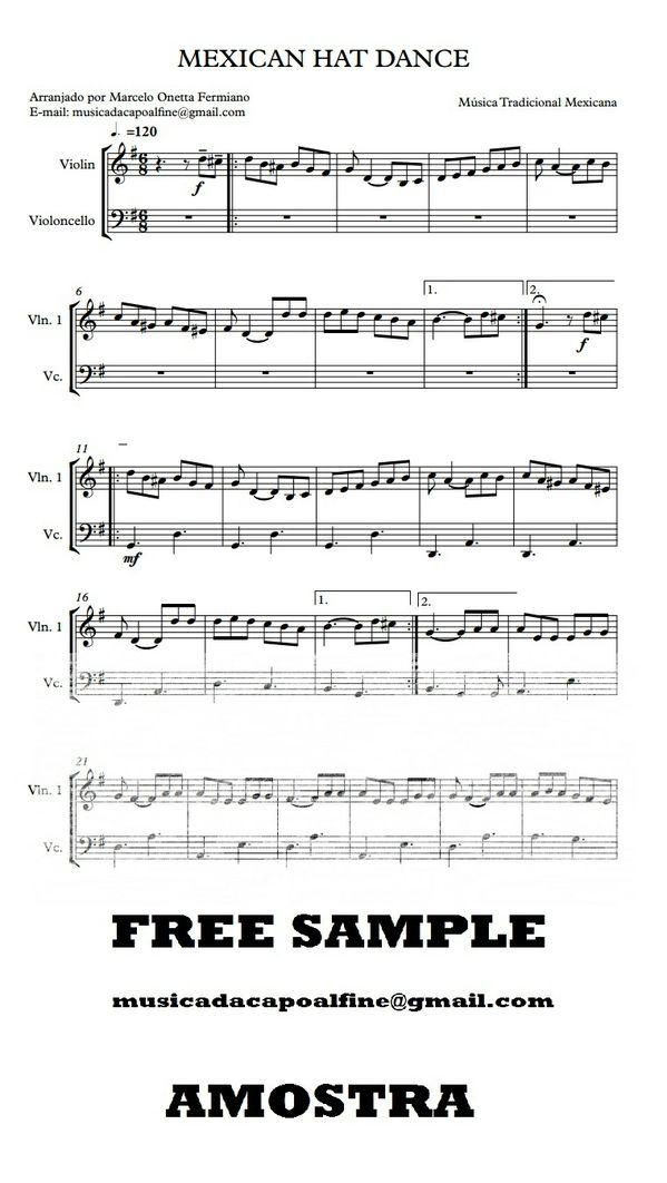 Violino e Violoncelo - MEXICAN HAT DANCE - Score and parts.pdf Partitura