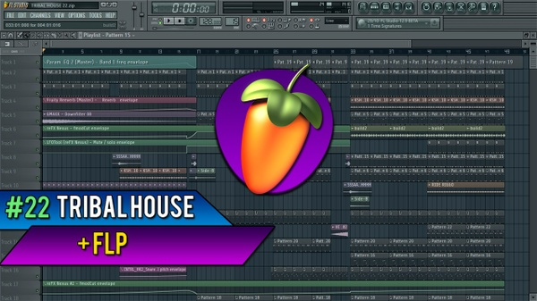 FL STUDIO 11 // Tribal House Template #22 FLP
