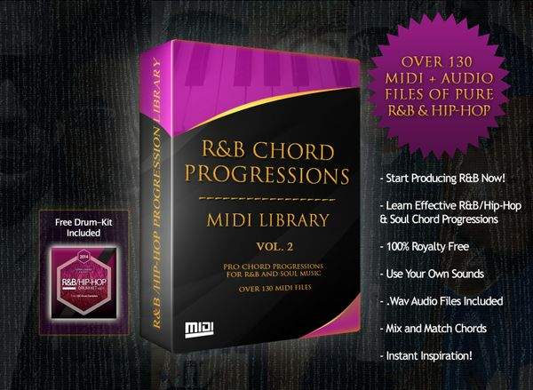 The R&B Chord Progressions MIDI Library Volume 2