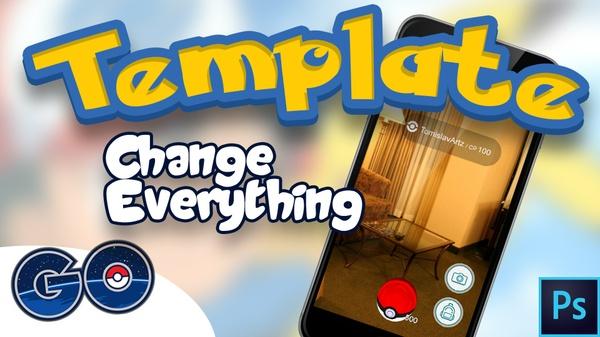 Pokemon Go - Interface Photoshop Template