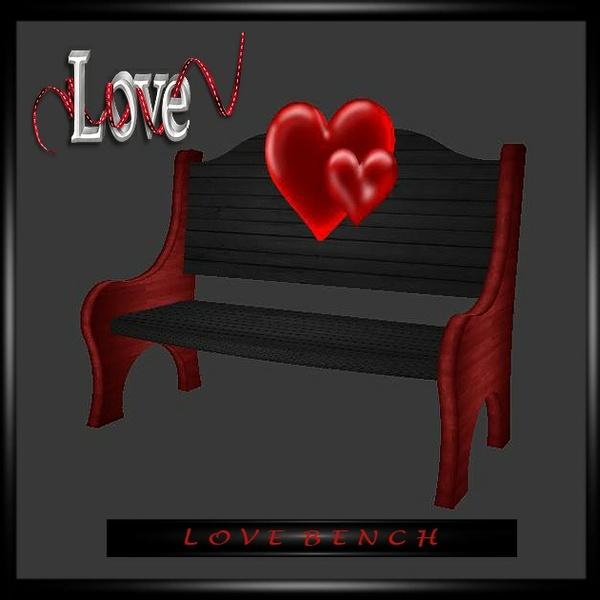 Love Bench Hearts