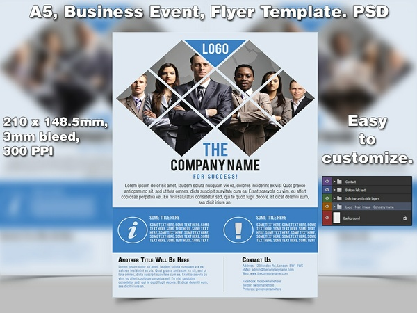 Business Event Flyer Template (A5 PSD)