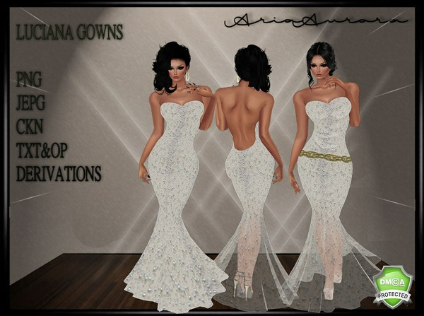 LUCIANA GOWN ,NO RESELL!!
