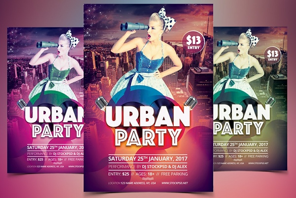 Urban Party - Free PSD Flyer Template to Download