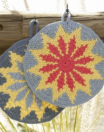 Burning Sun Potholders