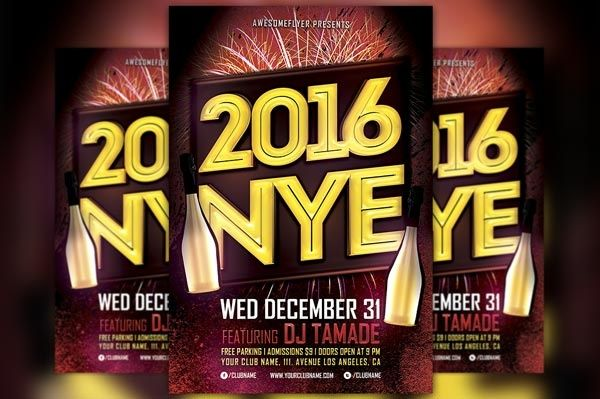 NYE 2016 Flyer Template