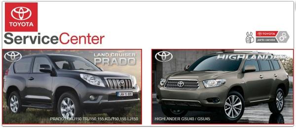 Toyota Landcruiser Prado & Highlander GSIC Workshop  Manuals.