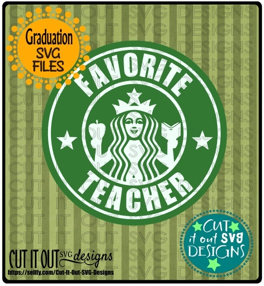 Favorite Teacher Starbucks Logo Design 4