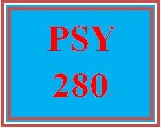 PSY 280 Week 5 Developmental Stages Matrix
