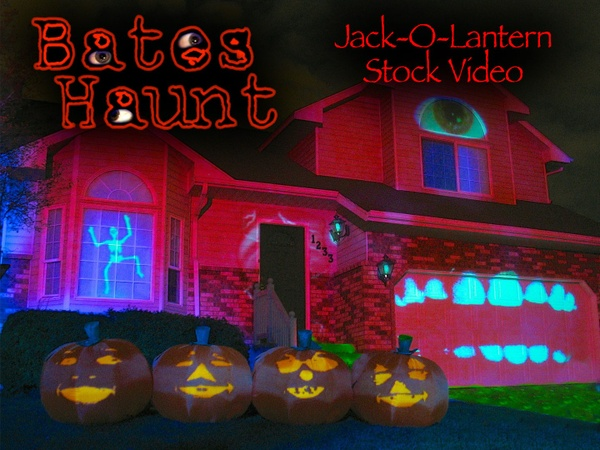 Jack-O-Lantern Singing Pumpkins BatesHaunt HD Stock Video