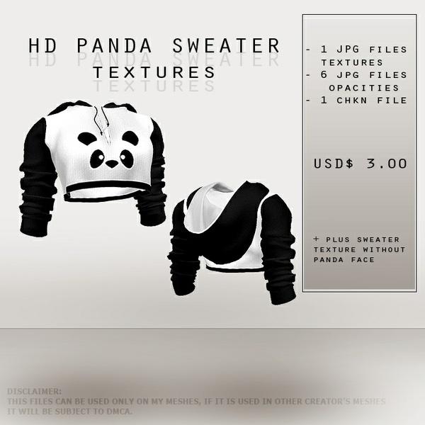 ISFS Panda Sweater - Textures