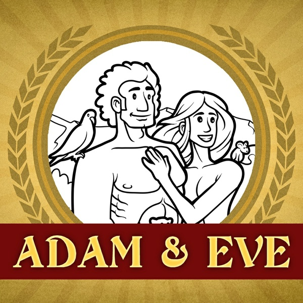 The Heroes of the Bible Coloring Pages: Adam & Eve