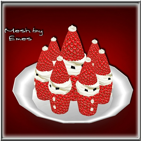 Mesh-Santa Strawberry Cupcakes