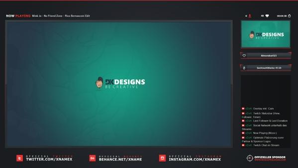 #1 Stream Overlay inkl. PSD