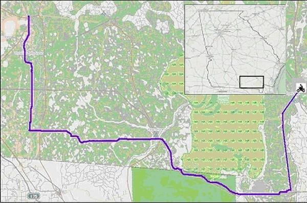 Folkston to Lakeland (Georgia)