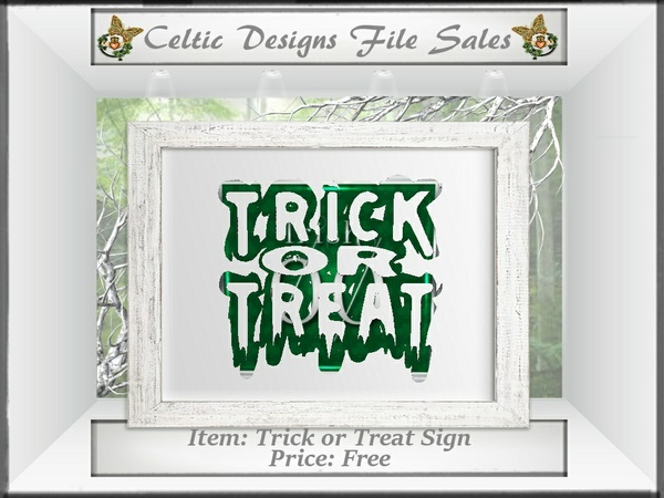 CD Trick or Treat Sign Mesh