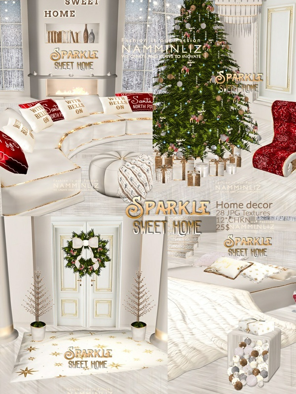 Sparkle Sweet Home decor 28 JPG Texture 12 *.CHKN NAMMINLIZ file sale